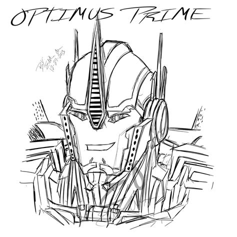optimus prime coloring pages transformers pinterest