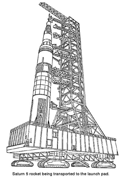 Saturn V Coloring Page by Saturn V Transported Space Ships Apollo Saturn V