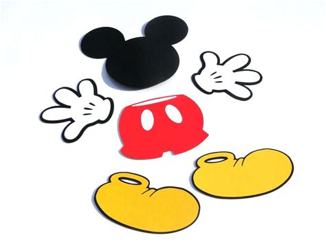 mickey mouse shape template