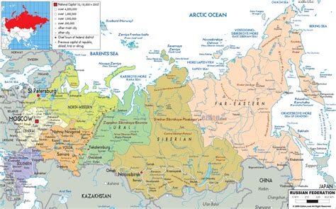 map of russia with cities names large detailed political and administrative map of russia