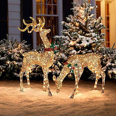 lighted reindeer outdoor decorations best 25 lights outside ideas on