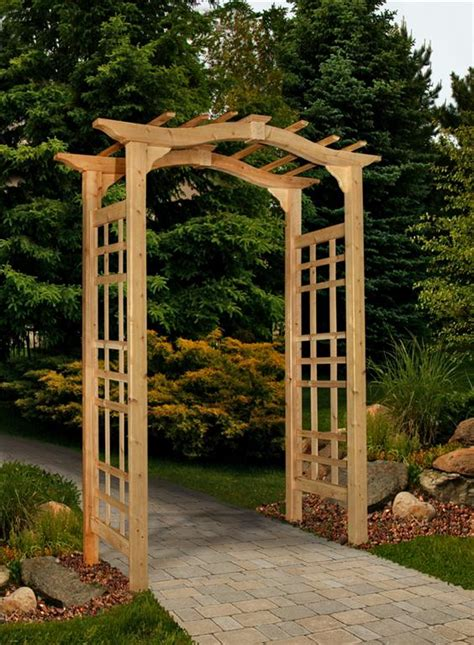 Garden Arbor by Mailbox Posts Arbors