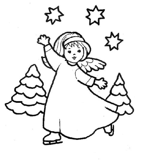 coloring pages angels christmas free printable angel coloring pages for kids