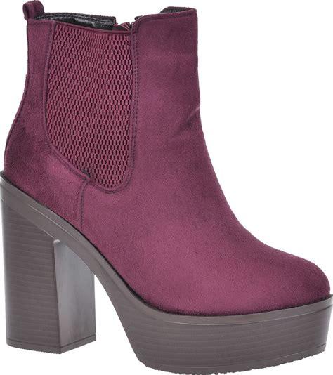 new womens black chunky sole platform block heel chelsea