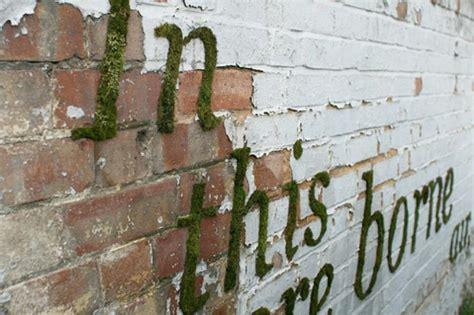 Graffiti Schriftzug Erstellen by Moos Graffiti Erstellen Und Eine Quot Gr 252 Ne Quot Botschaft Ausrichten