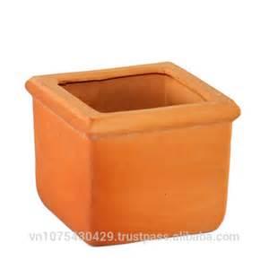 square ceramic flower pots set of 4 terracotta pots