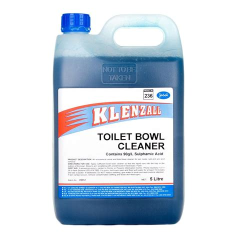 toilet bowl cleaner jasol klenzall toilet bowl cleaner 5l clea8122 cos complete office supplies