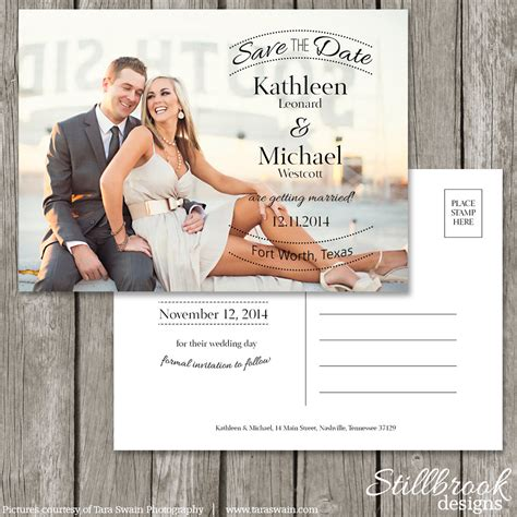 Save The Date Postcard Template Wedding Photo Save The Date Save The Date Postcard Templates 2