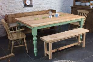 Farm Style Kitchen Tables The Farmhouse Wooden Kitchen Tables For Your Home