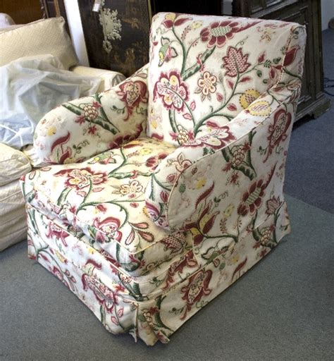 loose armchair covers an upholstered armchair with floral loose cover