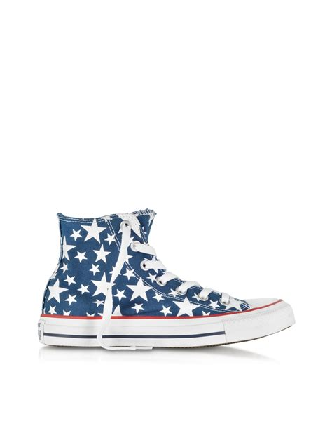 Converse Arizona Ox Midnight Blue converse chuck all hi ox midnight hour white canvas sneaker in blue lyst