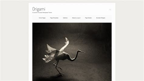 wordpress theme origami free origami wordpress theme siteorigin