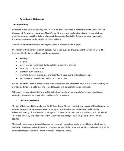 feasibility analysis templates 8 free word pdf