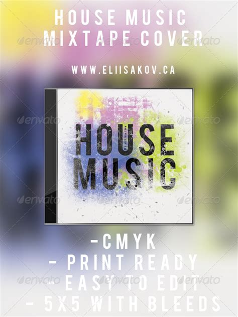 house music mixtapes house music mixtape cover by eliisakov graphicriver