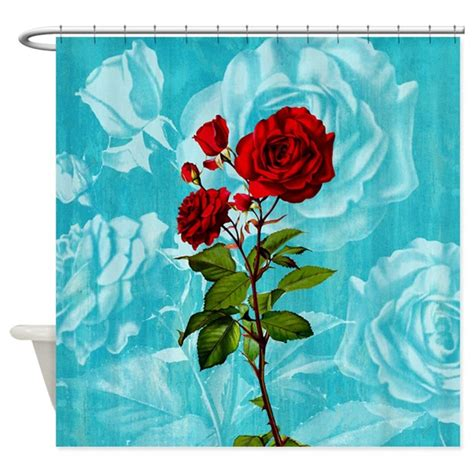 vintage rose shower curtain vintage red rose shower curtain by oph3lia