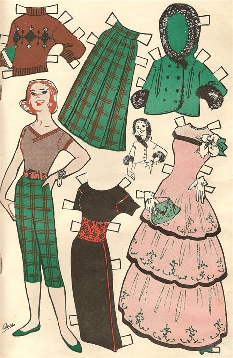 A Paper Doll - vintage paper dolls diy easy project home decor in