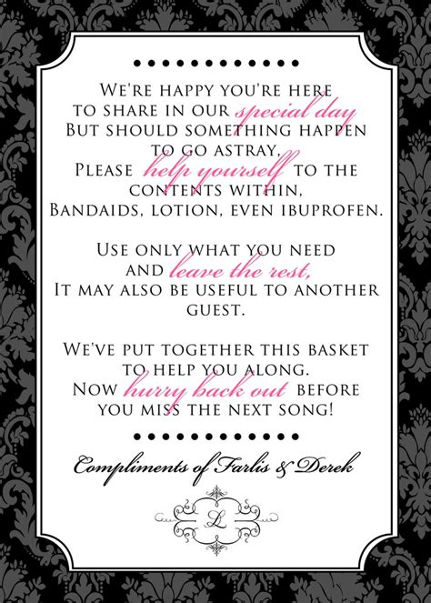wedding bathroom basket sign wording 1000 images about wedding ideas that are adorable on