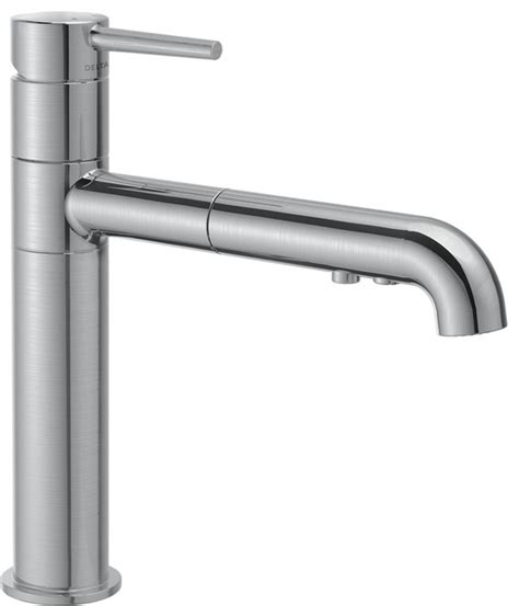 delta trinsic series single handle kitchen faucet modern