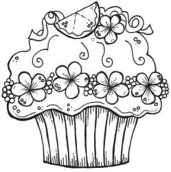 cupcake coloring pages embroidery pattern digists cupcakes colors coloring