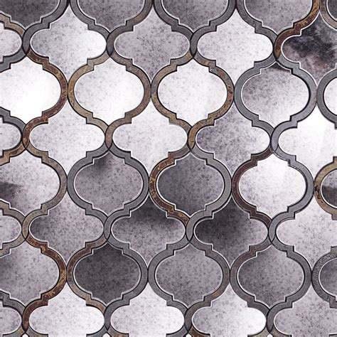 Metal Kitchen Backsplash Tiles by Veranda Paris Gray Quartz And Mirror Tile