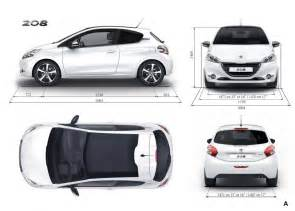 dimensions ext 233 rieures peugeot 208 3 portes 050 photos
