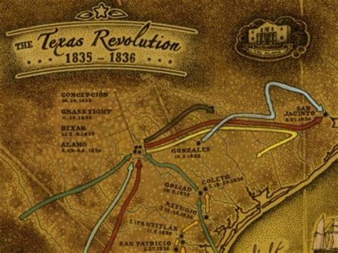 texas independence map buy texas revolution map 1835 to 1836 unique texas gifts