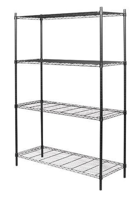 72 quot four shelf black wire shelving unit at menards 174
