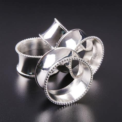 elha napkin ring 4pcs luxurious 4pcs bead edge napkin ring holder dinner wedding