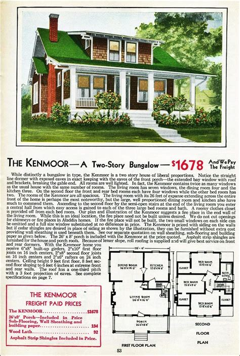 Aladdin Homes Floor Plans | the kenmoor kit house floor plan made by the aladdin