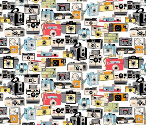 camera wallpaper pattern make it snappy vintage camera illustrations analog