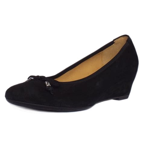 Pumps In Black gabor alvin smart low wedge pumps in black mozimo