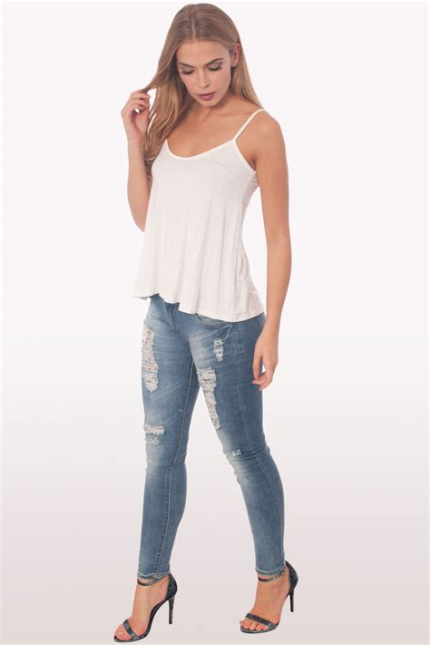 white swing cami white cami top clothing tops fashion modamore