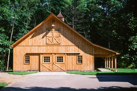 exceptionally built post beam  barn yard great