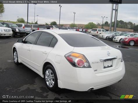 nissan altima white 2010 2010 nissan altima 2 5 sl in winter white photo no