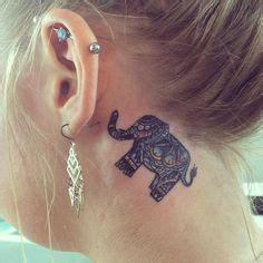 small elephant tattoo behind ear image result for small elephant tattoo tat one tat two