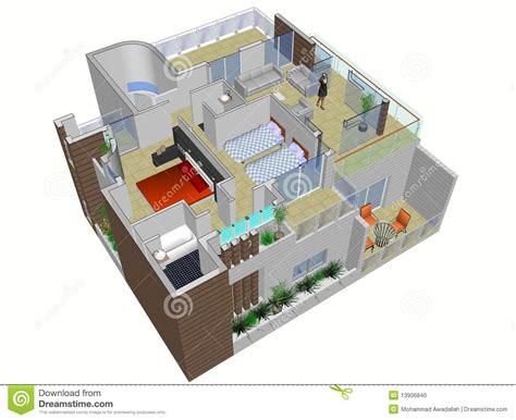 plans of house architectural plan of house stock photo image 13906840