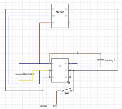 capacitor single phase induction motor wiring help