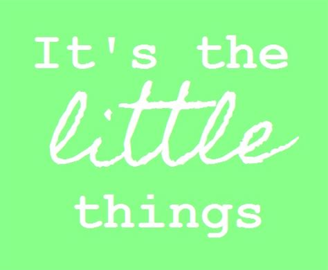 little things its the little things quotes quotesgram