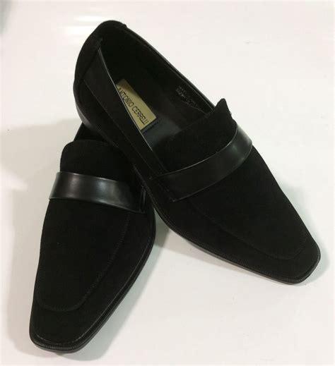 s dress casual shoes antonio cerrelli black slip ons