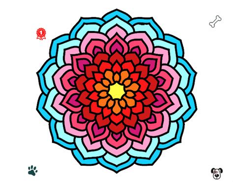 petali di fiori disegno mandala petali di fiori colorato da utente non