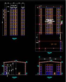 Kitchen Cabinet Rolling Shelves racks of storage in autocad drawing bibliocad