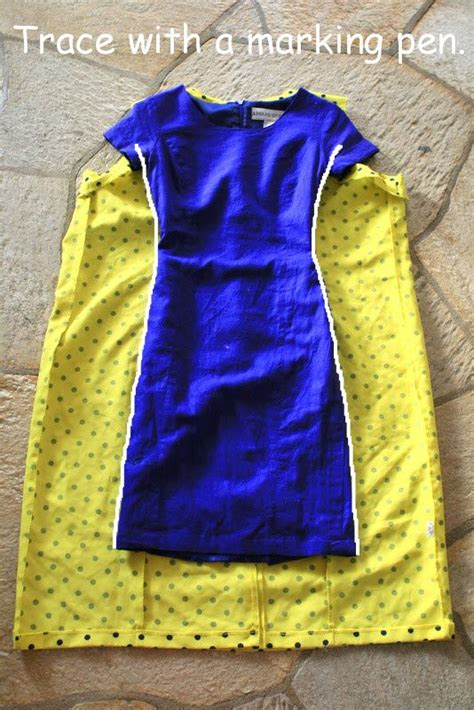 pattern from existing clothes diy refashion use an existing dress as a pattern to make