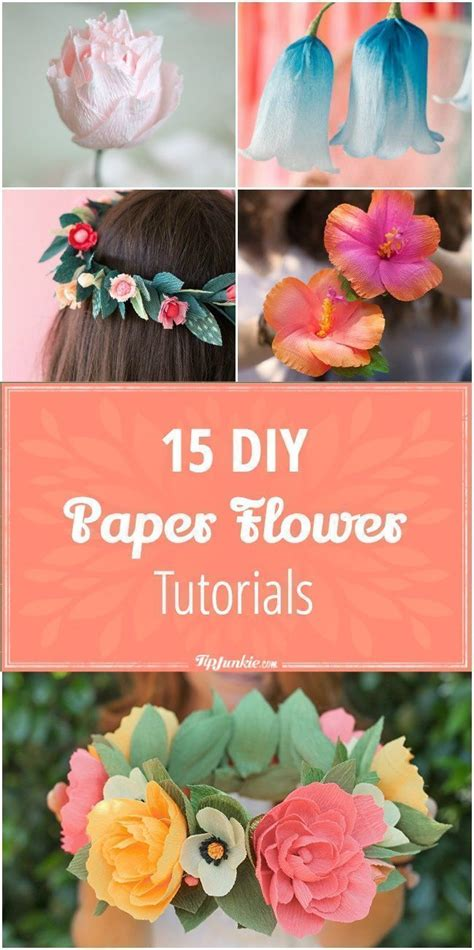Craft Work Paper Flowers - 25 best ideas about paper flowers on paper