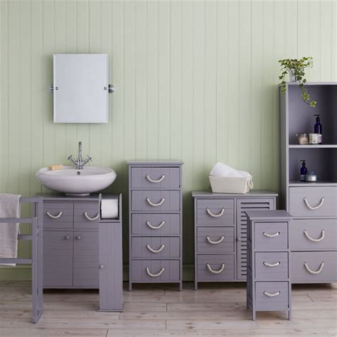 3 drawer bathroom storage estilo nautical grey bathroom storage unit 3 drawer at