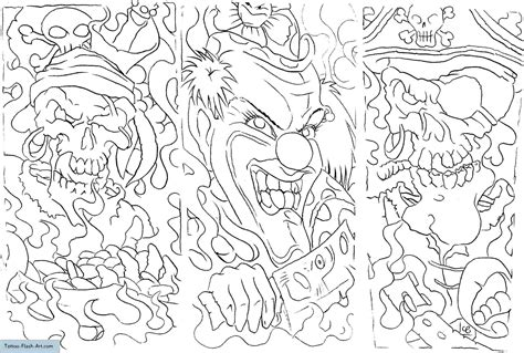 skull tattoo designs free printable coloring pages tattoos killer clowns printable