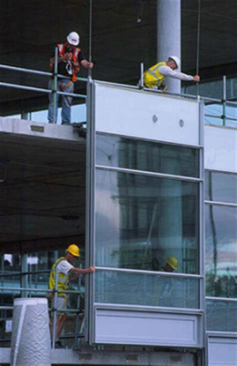 curtain wall installation process a facade is the face of a building especially the