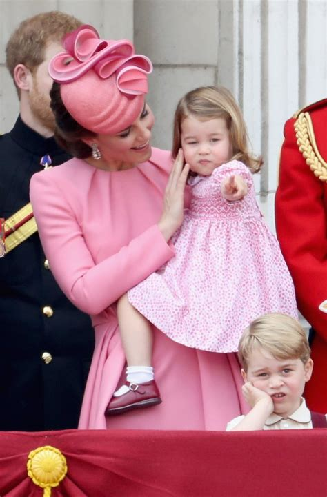 princess charlotte prince george princess charlotte trooping the colour 2017