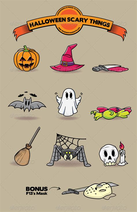 halloween scary things graphicriver