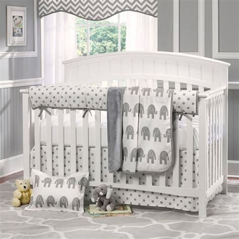 grey elephant crib bedding grey walls with cream carpet nursery google search