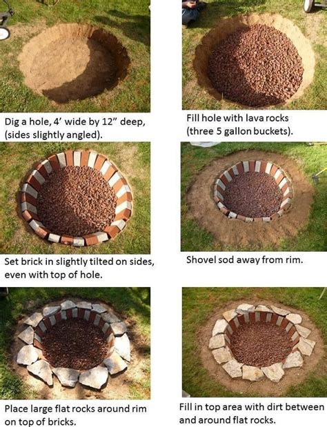 How To Build A Firepit In The Ground 30 Diy Pit Ideas And Tutorials For Your Backyard Fab Diy